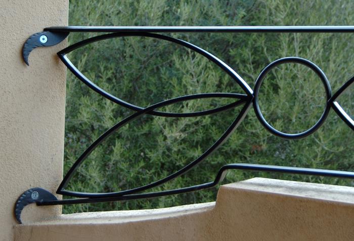 Ziranu salvatore parapetto in ferro battuto modello - Ringhiere in ferro battuto per balconi esterni ...