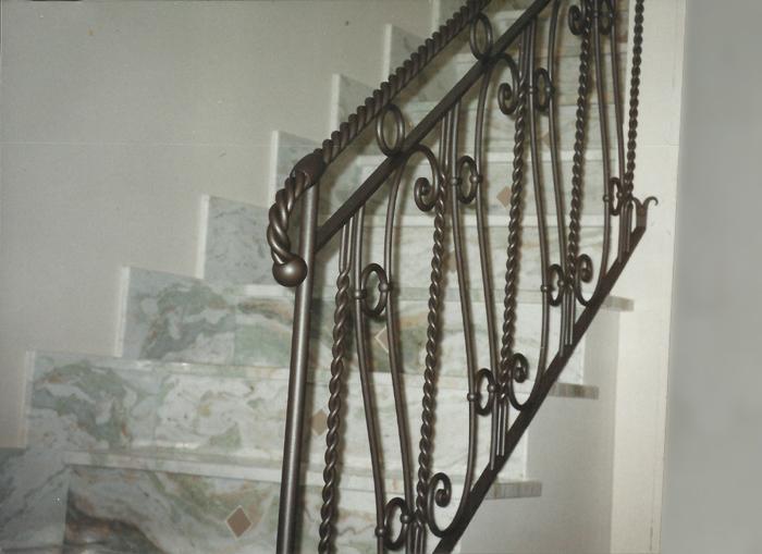 Eccezionale Ziranu Salvatore - Ringhiera in ferro battuto modello Torsion ER14