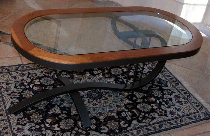 Tavolini Da Salotto Cristallo E Ferro Battuto.Ziranu Salvatore Tavolino Da Salotto Modello Arpa In Ferro